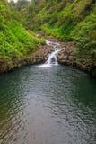 Сценарный водопад Мауи Стоковое фото RF