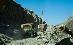 Сценарный высокогорный ландшафт с и горные цепи естественная предпосылка горы Стоковые Фотографии RF