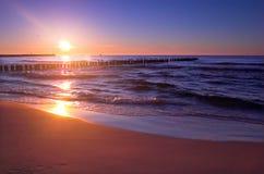 сценарный заход солнца Стоковая Фотография