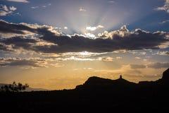 Сценарный заход солнца в Sedona, Аризоне Стоковое фото RF