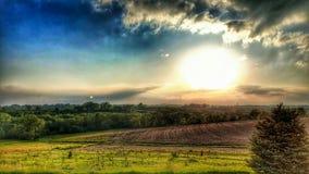 сценарный заход солнца Стоковые Фотографии RF