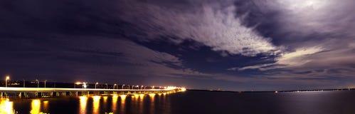 Сценарный залив pensacola стоковое изображение rf