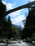 Сценарный кантон Grisons, Швейцарии Стоковая Фотография
