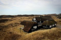 Сценарный ландшафт около Blavand, Дании Стоковое Фото