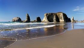 Сценарный ландшафт следа Тихоокеанского побережья Орегона Стоковые Изображения