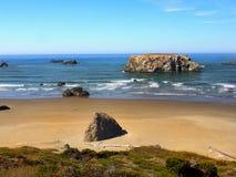 Сценарный ландшафт следа Тихоокеанского побережья Орегона Стоковая Фотография