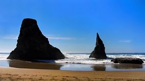 Сценарный ландшафт следа Тихоокеанского побережья Орегона Стоковая Фотография RF