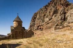 Сценарный монастырь Novarank в Армении, известном туристском назначении стоковое изображение rf
