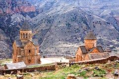 Сценарный монастырь Novarank в Армении Оно было основано в 1205 Оно расположено 122 km от стоковая фотография