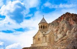 Сценарный монастырь Novarank в Армении стоковые фото