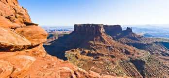 Сценарный обозите от острова в небе, пустыни Canyonlands Moab Стоковое фото RF