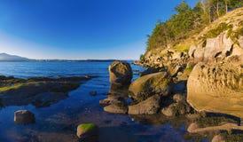 Сценарный панорамный взгляд океана и пункта Джека и четырехрядные ячмени паркуют Стоковое Изображение RF