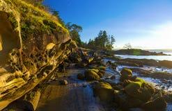 Сценарный панорамный взгляд океана и пункта Джека и четырехрядные ячмени паркуют Стоковая Фотография RF