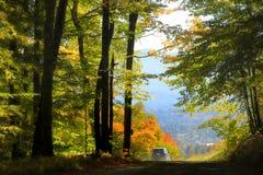 Сценарный привод осени в Вермонте Стоковая Фотография RF