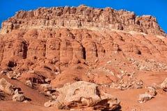 Сценарный Vermillion ландшафт Аризоны скал Стоковые Изображения