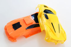 Сцена аварии пластичных игрушек автомобиля Стоковые Изображения RF