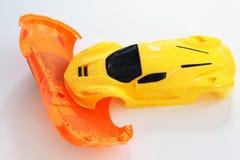 Сцена аварии пластичных игрушек автомобиля Стоковая Фотография