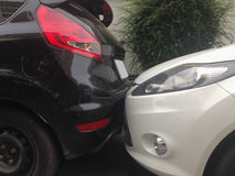 Сцена автокатастрофы, автомобильной катастрофы Стоковое Изображение