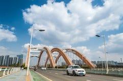 Сцена движения моста радуги Стоковое Фото