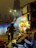 Сцена войны Стоковое фото RF