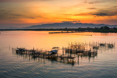 Сцена восхода солнца Стоковая Фотография RF