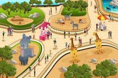Сцена в зоопарке Стоковая Фотография