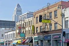 Сцена в меньшем районе токио, городское Лос-Анджелес улицы Стоковые Фото