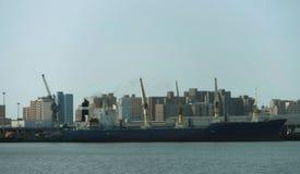 Сцена гавани города стоковое изображение rf