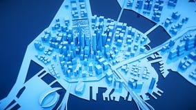 Сцена голубых небоскребов Стоковое Изображение RF