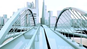 Сцена городских голубых зданий города Стоковые Изображения RF
