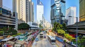 Сцена города Гонконга Стоковое Фото