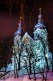 Сцена города ночи стоковое изображение rf