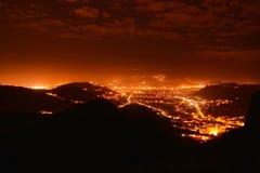 Сцена города ночи Стоковое фото RF