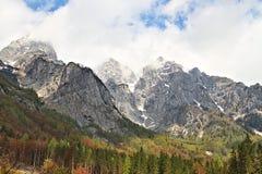 Сцена горы в национальном парке Triglav, Словении Стоковые Изображения RF