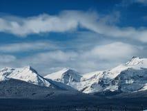 Сцена горы зимы Стоковые Изображения RF
