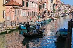 Сцена действительности в Венеции стоковая фотография rf