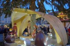 Сцена Дрезден рождества Стоковая Фотография
