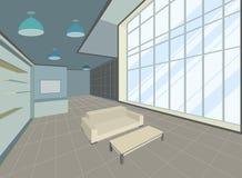 Сцена живущей комнаты иллюстрация штока