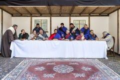 Сцена жизни Иисуса 16 2011 актера artur -го апрель направили учеников его piotrowski фото страсти тайны jesus зрелище warsaw Поль стоковые фотографии rf