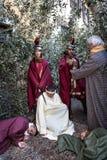 Сцена жизни Иисуса Иисус в саде Gethsemane стоковая фотография