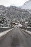 Сцена зимы, Австрия Стоковая Фотография RF