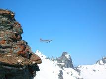 Сцена зимы Альпов швейцарца Стоковое Изображение RF