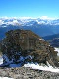 Сцена зимы Альпов швейцарца Стоковое Изображение