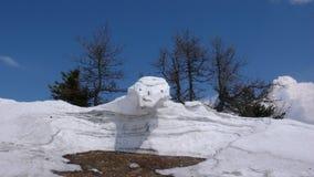Сцена зимы Альпов швейцарца Стоковое Фото