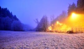 Сцена зимы в долине Tuhinj, Slolvenia Стоковая Фотография