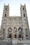 Сцена зимы в историческом старом Монреале Стоковое Изображение RF