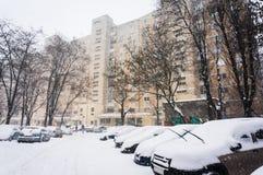 Сцена зимы города Стоковые Изображения