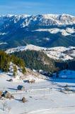 Сцена зимы сельская Стоковые Фото