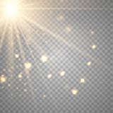Объектив прозрачного солнечного света вектора особенный иллюстрация вектора