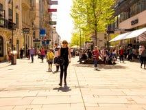 Сцена идя улицы в вене стоковое изображение rf